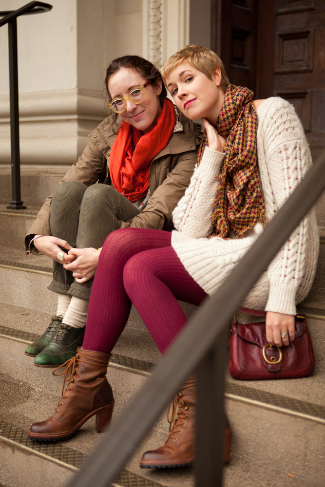 Cable-Knit Sweater and Tights with JM