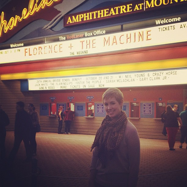 Outside Florence and the Machine at the Shoreline Amphitheater in Mountain View, CA