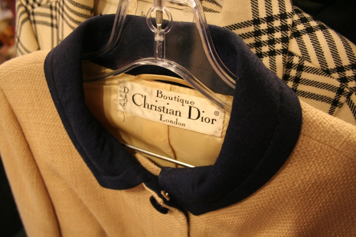 Vintage Christian Dior Suit at San Francisco Vintage Fashion Expo, copyright James Winstead