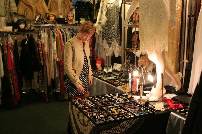 Vendor booth at San Francisco Vintage Fashion Expo, copyright James Winstead