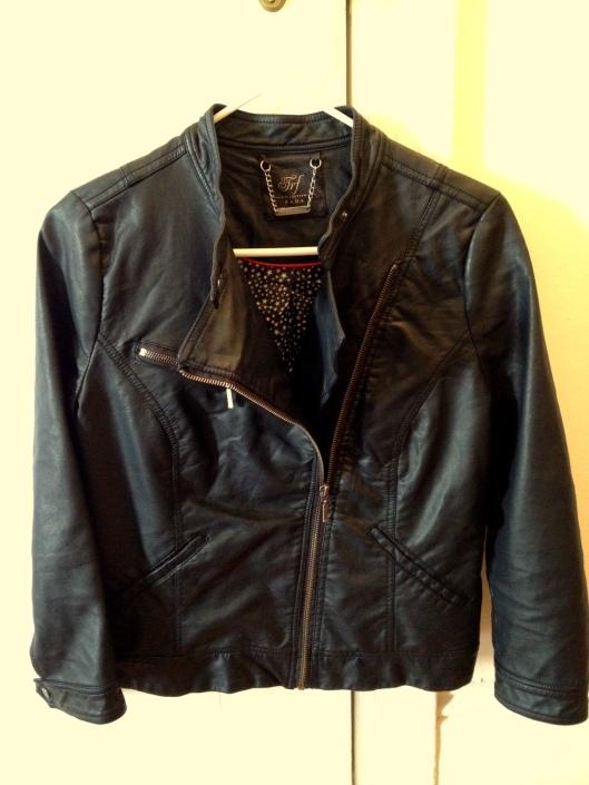 Zara's Faux Leather Moto Jacket in Black