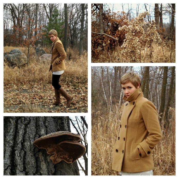 L.L. Bean Camel Coat, Pea Coat, Minnesota Woods