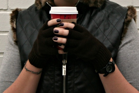 Marc by Marc Jacobs watch and fingerless gloves