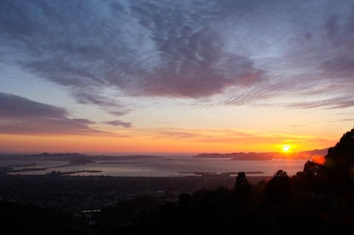 Berkeley Hills, San Francisco sunset