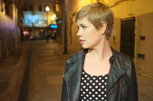 Sanfranista style, leather bomber jacket, leather moto jacket, H&M polka dot dress, Zara moto jacket, Zara bomber jacket