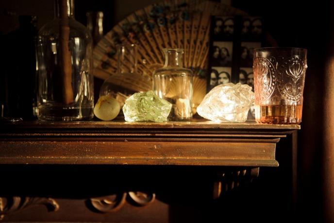 vintage glassware, vintage decor