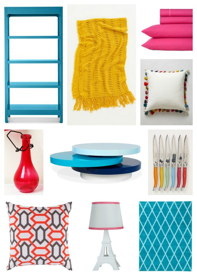 colorful home decor, colorful decor, home decor, pops of color, pops of color interior design, colorful interior